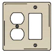 Bryant NPJ826I Styleline Rectangular Plate, 3-Gang, Mid-Size, Ivory Nylon, Duplex