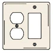 Bryant NPJ826LA Styleline Rectangular Plate, 3-Gang, Mid-Size, Lt. Almond Nylon, Duplex