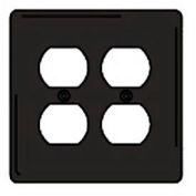 Bryant NPJ82BK Duplex Plate, 2-Gang, Mid-Size, Black Nylon
