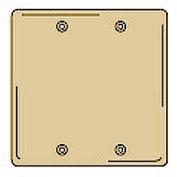Bryant SB23 Box Mounted Blank Plate, 2-Gang, Standard, Brass