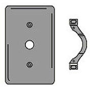 Bryant SCH12 Telephone and Coax Plate, 1-Gang, Standard, Chrome Plated