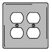Bryant SCH82 Duplex Plate, 2-Gang, Standard, Chrome Plated