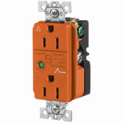 Bryant SP52IGOA Industrial/Commercial Grade, Isolated Ground, 15A 125V, Orange