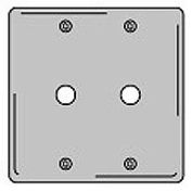 Bryant SS22 Telephone and Coax Plate, 2-Gang, Standard, Satin Stainless