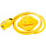 Bryant T1254GF6 QUADPLEX®Cord Set, 15A, 125V AC, Yellow