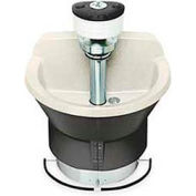 Bradley Wash Fountain, Semi Circular, 36 In Wide, Series WF2803, 3 Person