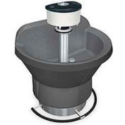 Bradley Wash Fountain, Semi Circular, 54 In Wide, Series WF2804, 4 Person