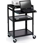 Bretford® Open Base Adjustable AV Projector Cart w/ Notebook Shelf