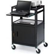 Bretford® Cabinet Base Adjustable AV Projector Cart w/ Notebook Shelf