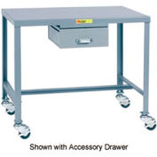 Little Giant®   Machine Table, 24 x 36 x 24, Swivel Casters w/Brakes