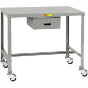 Little Giant®  Machine Table, 24 x 36 x 24, Swivel Casters w/Brakes, Drawer