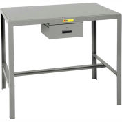 Little Giant®  Steel Top Machine Table, 24 x 48 x 36, w/Accessory Drawer