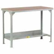 """Little Giant®  48""""W x 30""""D Adj.  Workbench w/Open Base, Hardboard over Steep Top"""