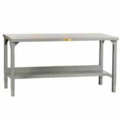 "Little Giant®  48""W x 30""D Adjustable Welded Steel Square Edge Workbench w/Open Base"