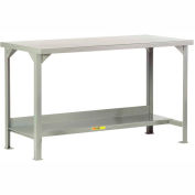 Little Giant®  Steel Square Edge, Welded Workbench w/Lower Shelf, 24 x 48