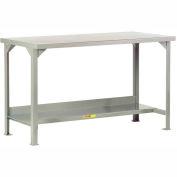Little Giant®  Steel Square Edge, Welded Workbench w/Lower Shelf, 24 x 48