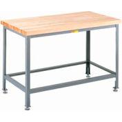 """Little Giant® 24""""W x 24""""D Maple Butcher Block Square Edge Top Table, Adjustable Leg"""