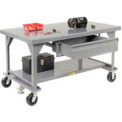 Little Giant®  Mobile Heavy Duty, 7 Gauge, Steel Workbench, Drawer, 30 x 60