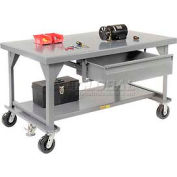 Little Giant®  Mobile Heavy Duty, 7 Gauge, Steel Workbench, Drawer, 36 x 60