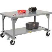 Little Giant®  Mobile Heavy Duty, 7 Gauge, Steel Workbench, 42 x 84