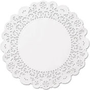 "Brooklace Lace Doilies, Round 4"" White, 2000/Carton"