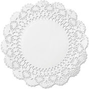 "Cambridge Lace Doilies, Round 10"" White, 1000/Carton"