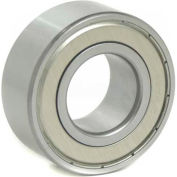 BL Double Row Angular Contact Bearings 5206-ZZ, 2 Metal Shields, Medium Duty, 30mm Bore, 62mm OD