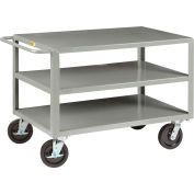 "Little Giant Extra-Heavy Duty Shelf Truck 3GH360-8PHKBKPL - 5000 lbs. 3 Shelves 30"" x 60"""