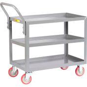 Little Giant® All Welded Service Cart 3LGL-2436-UPS, 3 Shelves, Lip Shelves, 24 x 36
