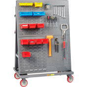 """Little Giant® Mobile A-Frame - Lean Tool Cart, Combo Pegboard/Louvered Panels, 24""""D x 60""""W"""