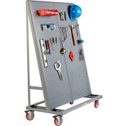 "Little Giant Mobile Pegboard A-Frame AFPB1S2448-TL60 - 60"" Tall, 1 Sided"