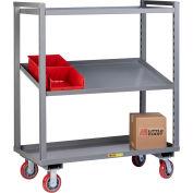Little Giant® Adjustable Height Multi-Shelf Truck AM-2A-2460-6PY - 2 Adjustable Shelves 60 x 24