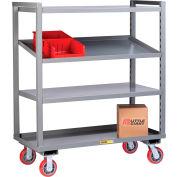 Little Giant® Adjustable Height Multi-Shelf Truck AM-3A-2460-6PY - 3 Adjustable Shelves 60 x 24