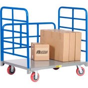 Little Giant® Double End Rack Platform Truck with Side Rack DRB-3048-6PY, 30 x 48