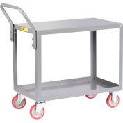 Little Giant® All Welded Service Cart LG-2436-UPS, 2 Shelves, Flush Top & Middle, 24 x 36