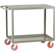 Little Giant® All Welded Service Cart LG-3048-6PY, 2 Flush Shelves, 30 x 48 2000 Lb. Cap.