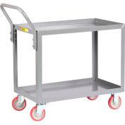 Little Giant® All Welded Service Cart LGL-1832-UPS, 2 Shelves, Lip Shelves, 18 x 32