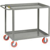 Little Giant® All Welded Service Cart LGL-2436-6PY, 2 Lip Shelves, 24 x 36, 2000 Lb. Cap.