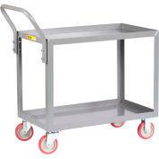 Little Giant® All Welded Service Cart LGL-2436-UPS, 2 Shelves, Lip Shelves, 24 x 36