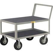 Little Giant® Low Deck Instrument Cart w/Non-Slip Vinyl Shelf Surface, Flush Top, 24 x 48