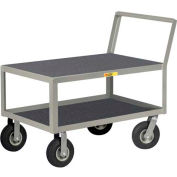 Little Giant® Low Deck Instrument Cart w/Non-Slip Vinyl Shelf Surface, Flush Top, 30 x 48