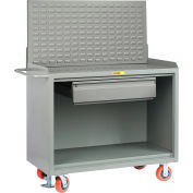"""Little Giant MB-2448-HDFL-LP 48""""W x 24""""D Mobile Service Bench, Drawer, Powder Coated Steel Top"""