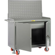 """Little Giant MB2D-2448HDFLLP 48""""W x 24""""D Mobile Service Bench, Drawer, Powder Coated Steel Top"""