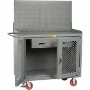 """Little Giant MBP2D-2DRFL-PB 48""""W x 24""""D Mobile Service Bench, 2 Drawers, Steel Top"""
