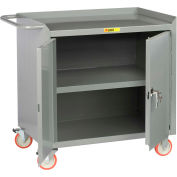 "Little Giant MC3-2D-2436-TL  36"" W Mobile Bench Cabinet, Center Shelf, 2 Doors"