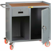 "Little Giant MCH1D2436-1DRTL  36"" W Mobile Bench Cabinet, 1 Drawer, 1 Door, Hardboard Top"