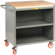 "Little Giant MCJ3-2436TL  36"" W Mobile Bench Cabinet, Center Shelf, Butcher Block Top"
