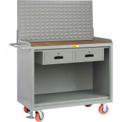 """Little Giant MH-2448-2DRFLLP 48""""W x 24""""D Mobile Service Bench, 2 Drawers, 1/4"""" Hardboard Top"""