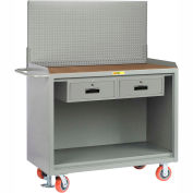"Little Giant MH-2448-2DRFLPB 48""W x 24""D Mobile Service Bench, 2 Drawers, 1/4"" Hardboard Top"