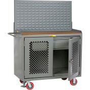 "Little Giant MHP2D-HDFL-LP 48""W x 24""D Mobile Service Bench, Drawer, 1/4"" Hardboard Top"